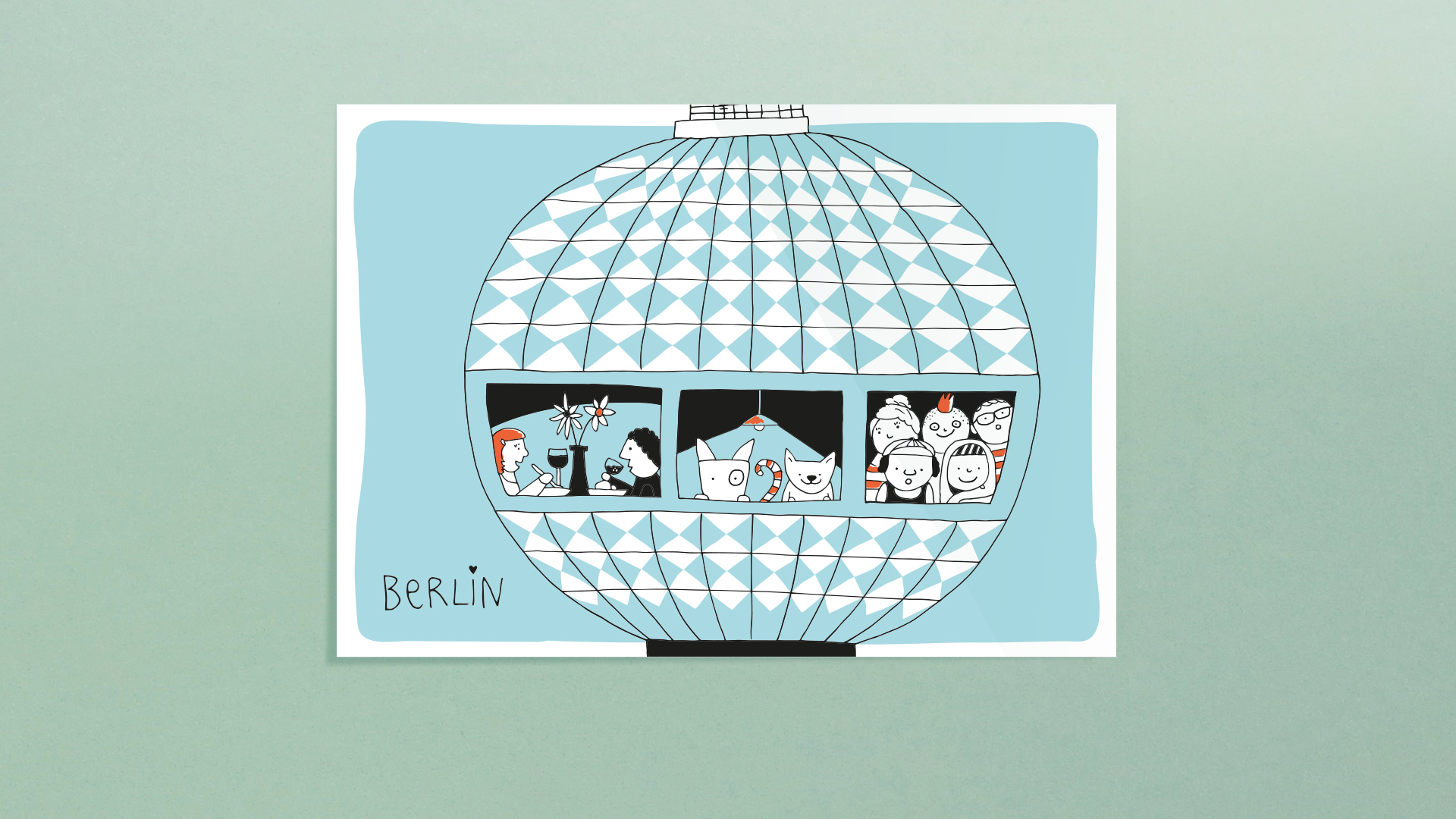 Berlin Postkarten - Fernsehturm