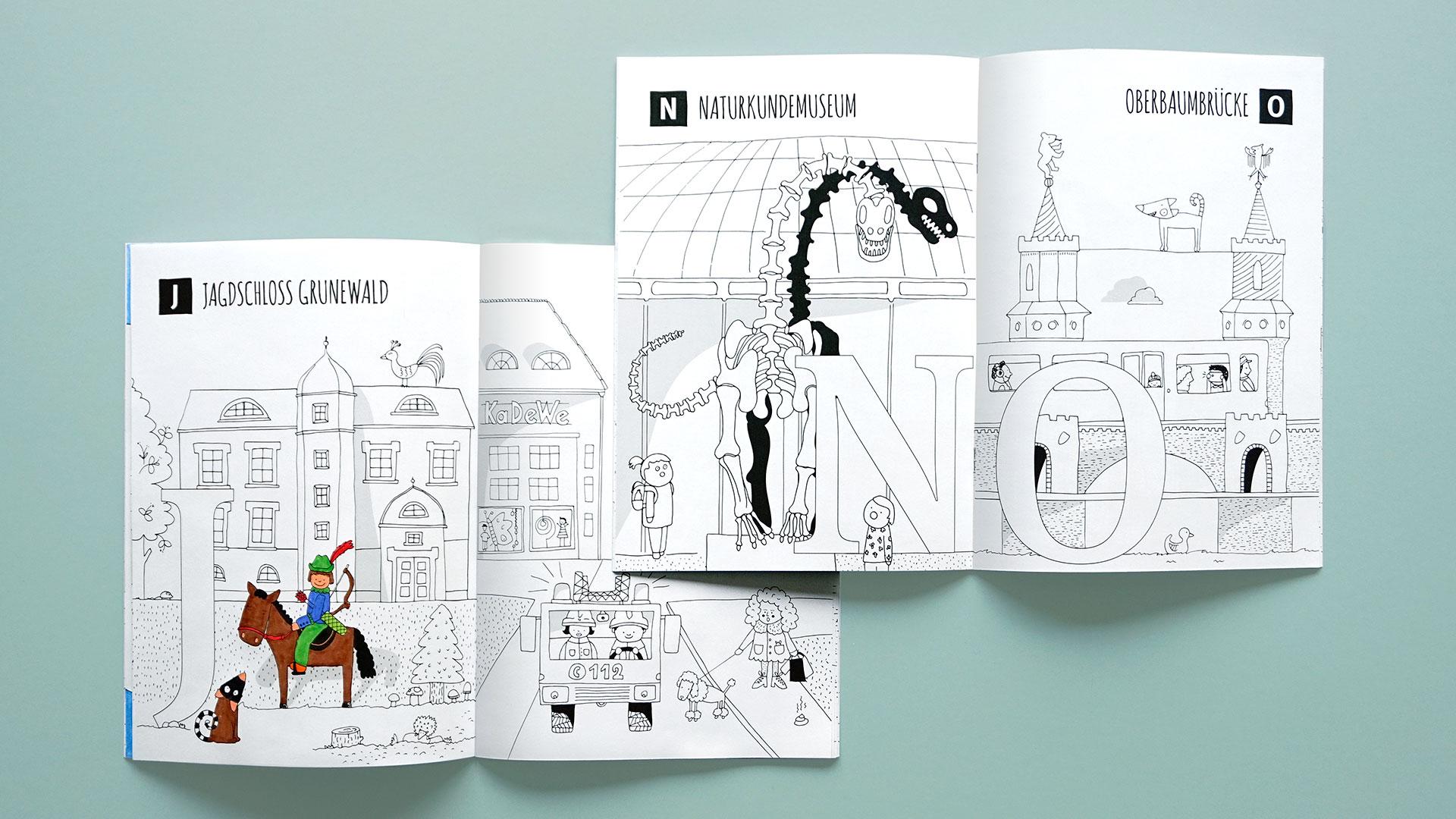 Berlin ABC Malbuch | Naturkundemuseum zum Ausmalen