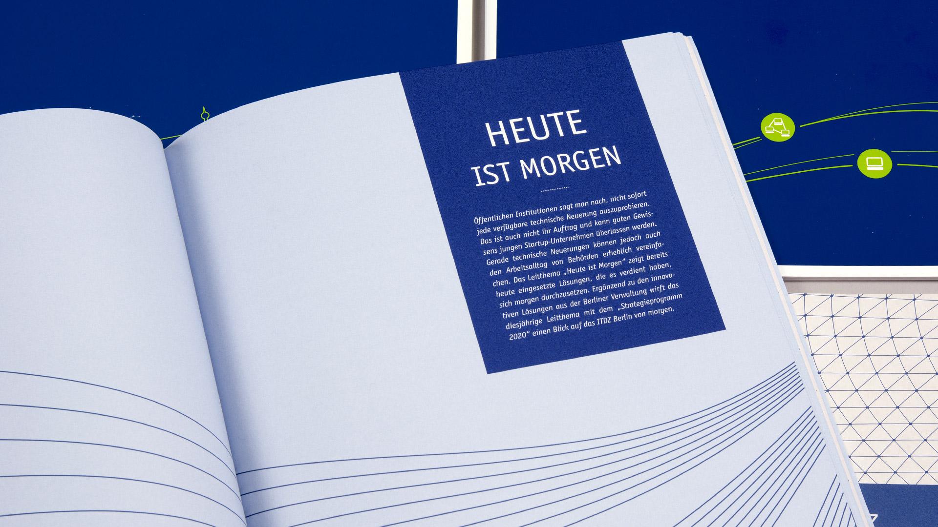 Innenseite Geschäftsbericht, ITDZ Berlin