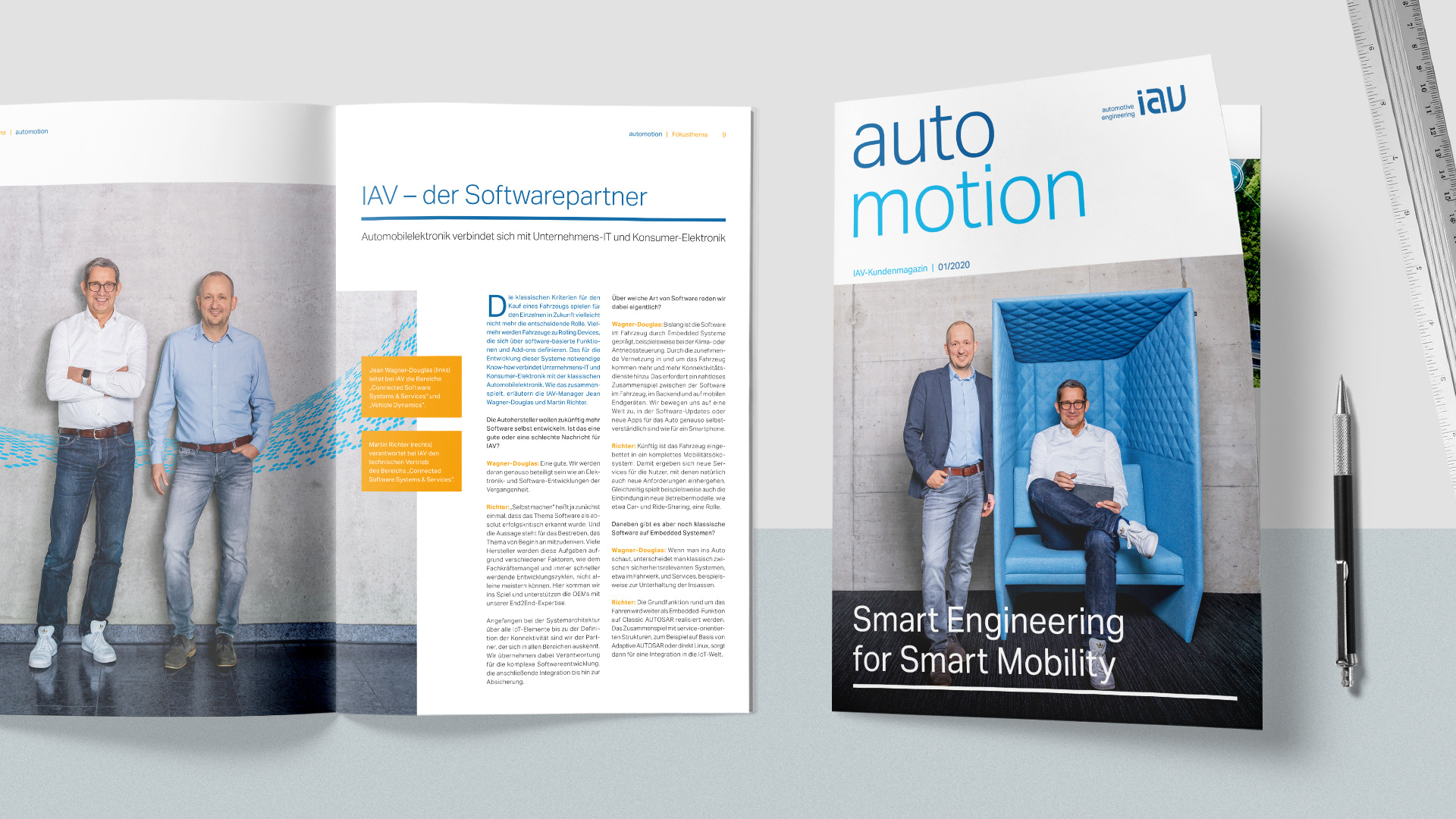 IAV Kundenmagazin automotion: Titelthema
