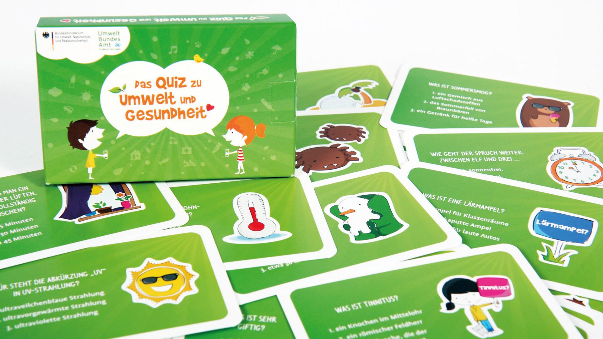 Illustration publicgarden | Umweltbundesamt: Umweltquiz für Kinder