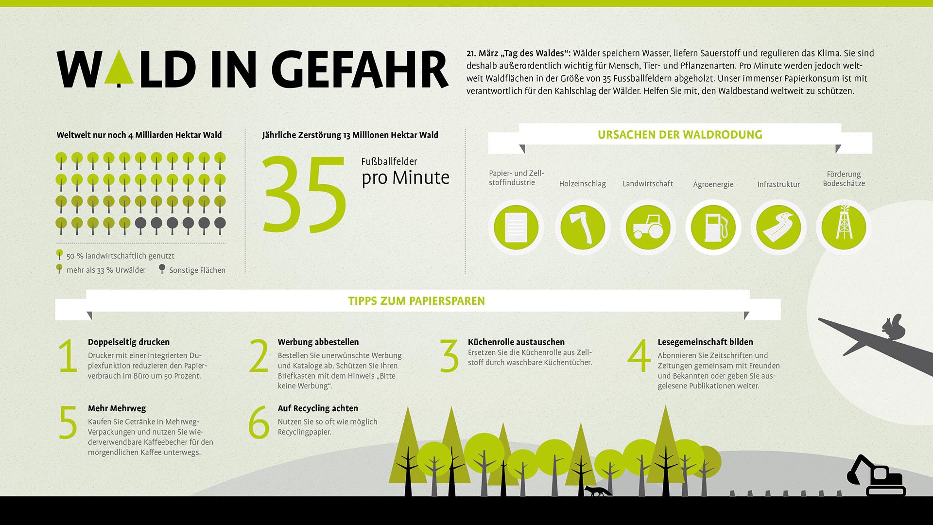 Infografiken | publicgarden: Freie Arbeit zur Waldrodung