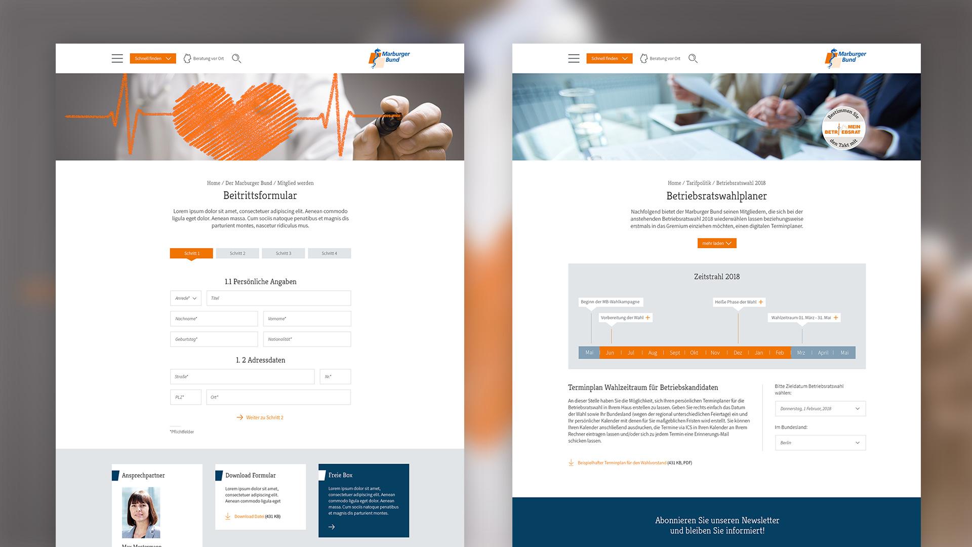Marburger Bund Beitrittsformular/Betriebsratswahlplaner