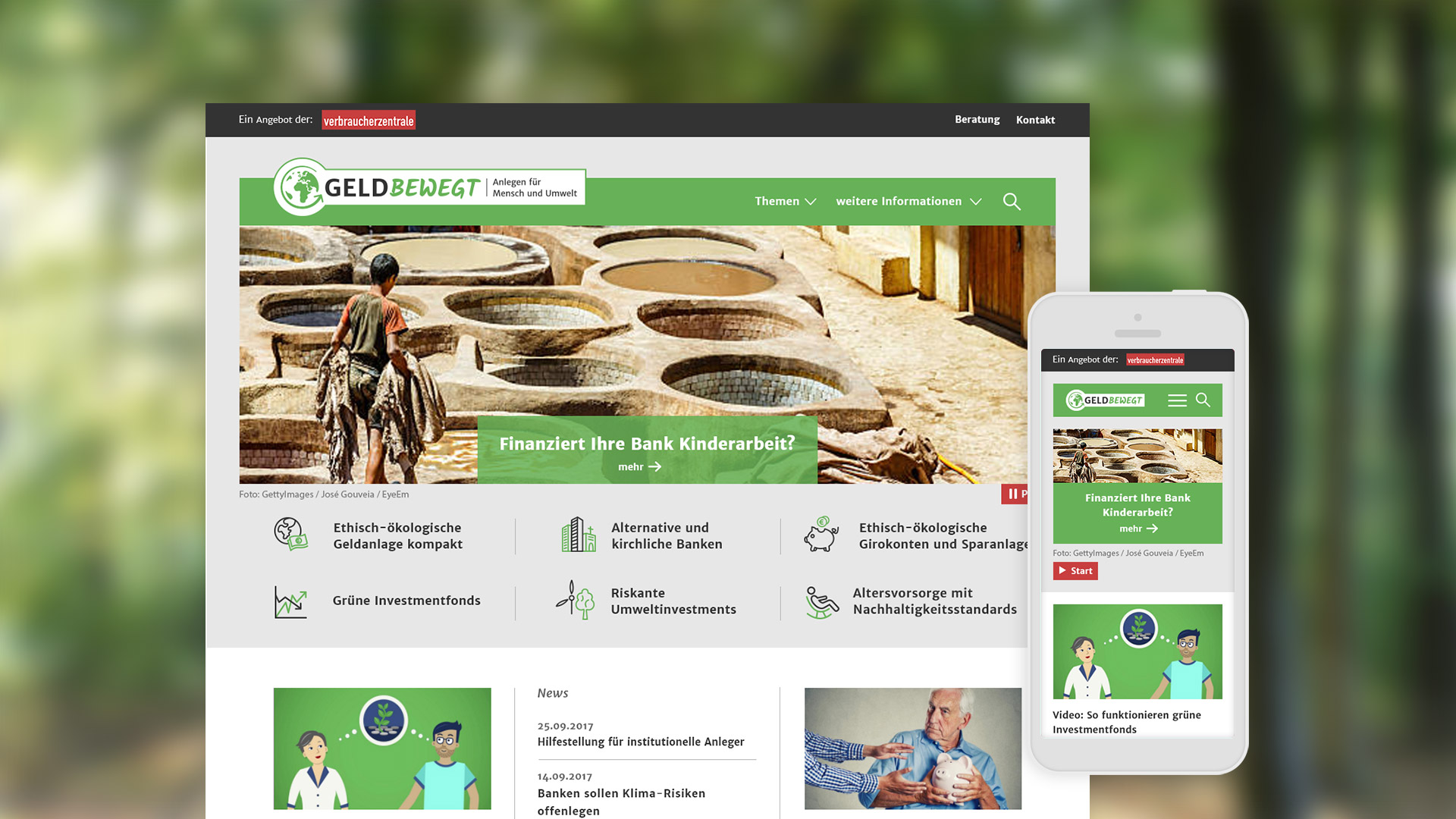 Microsite für Verbraucherzentrale Bremen | Startseite