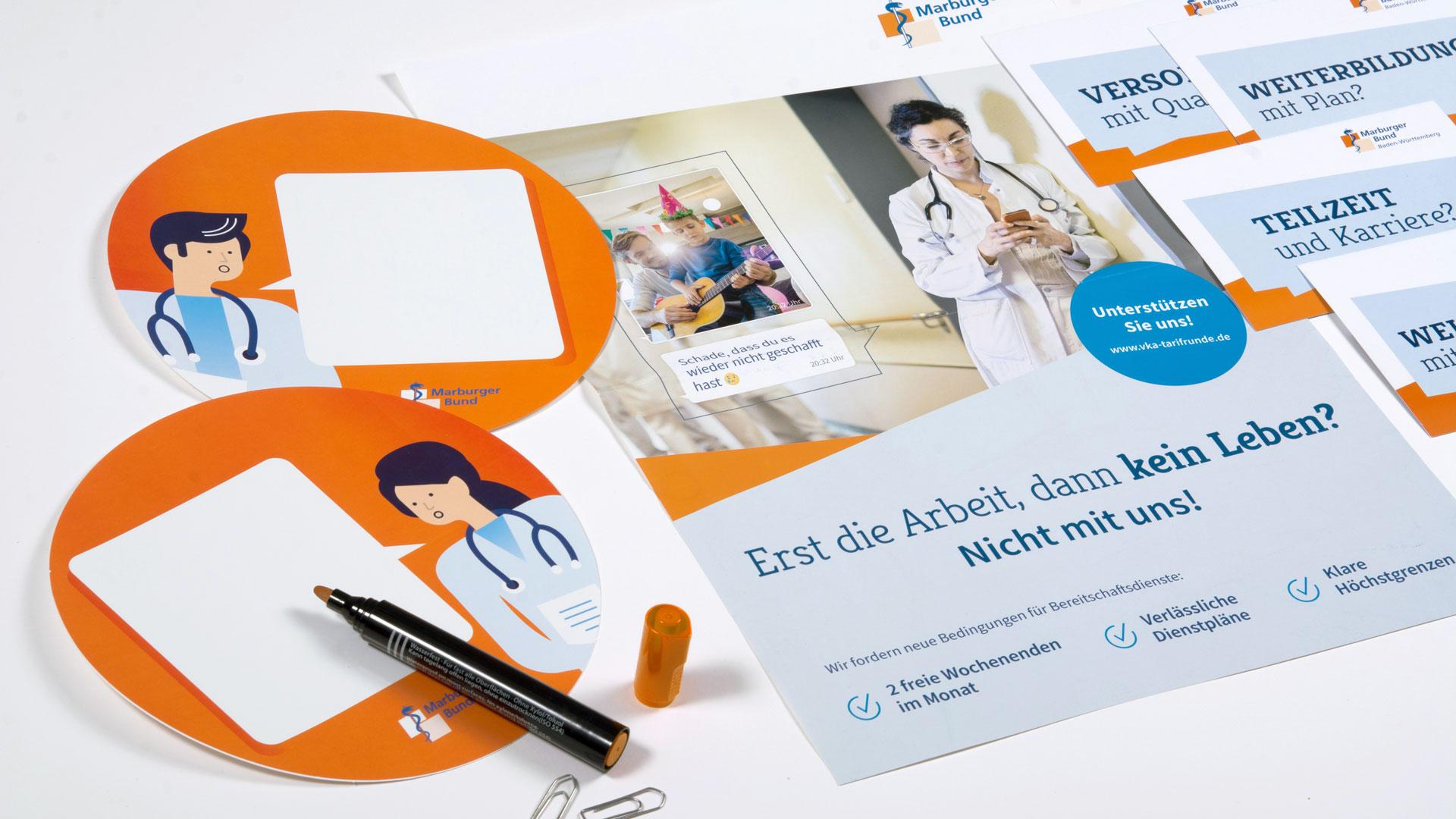 Kampagnenmaterialien Marburger Bund
