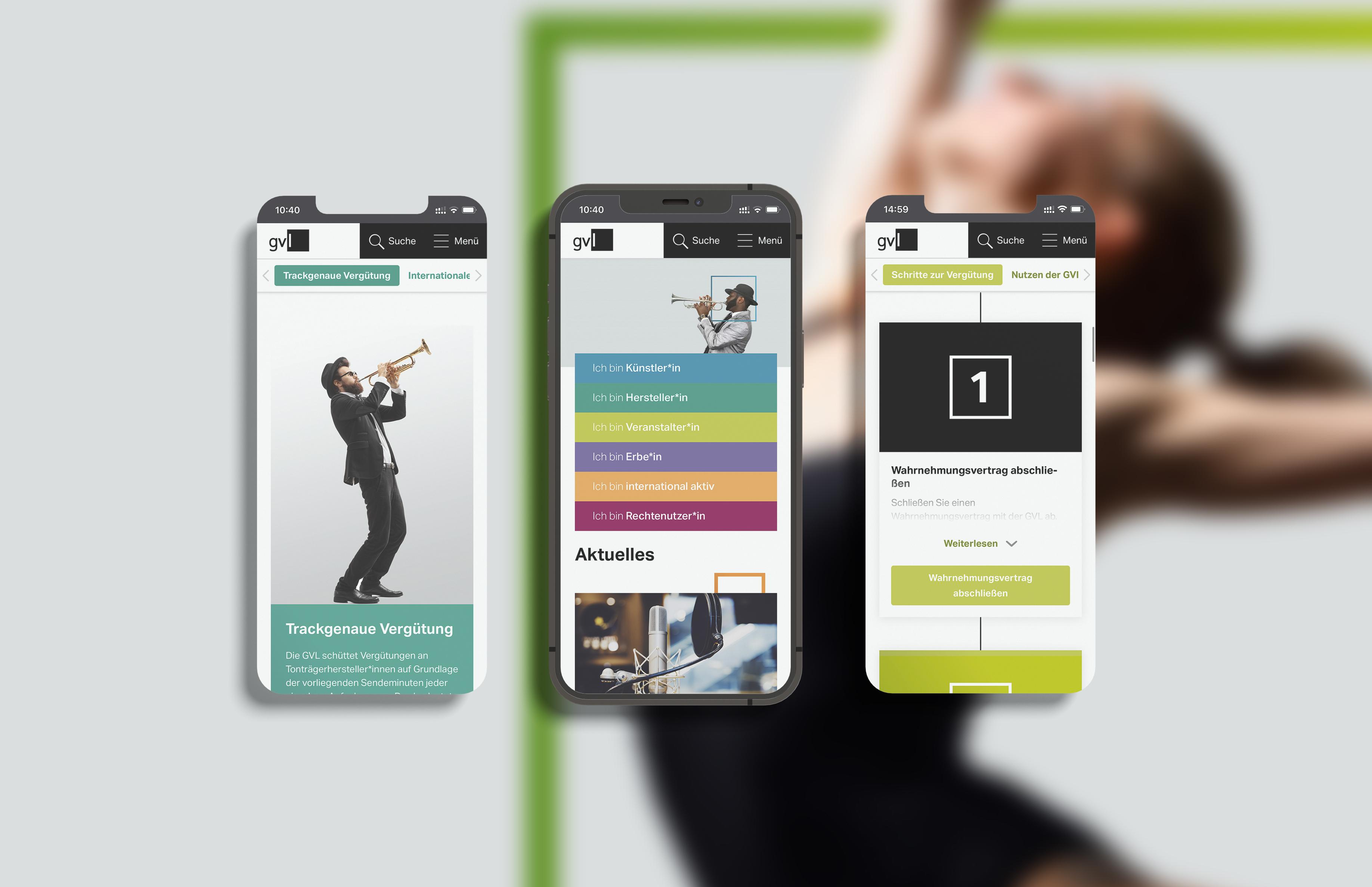 Relaunch für GVL   Mobil