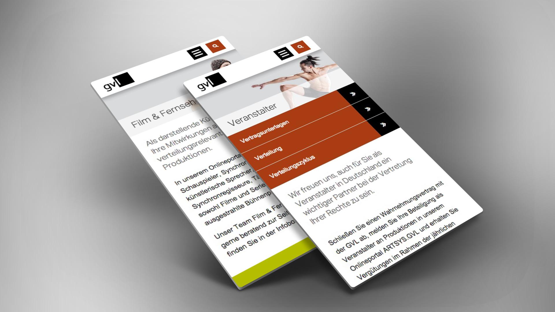Das flexible Layout der Webseite passt sich auch an mobile Geräte an