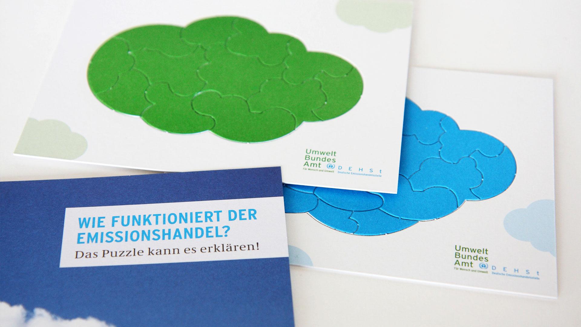 Puzzle für Kinder zum Emissionshandel, Umweltbundesamt