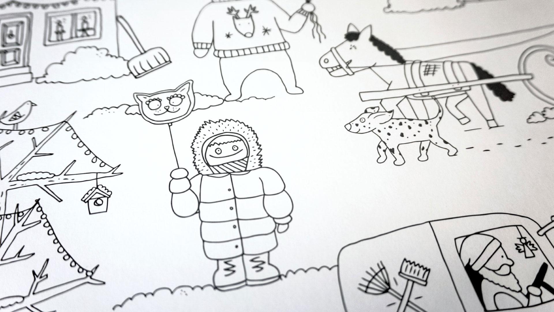 Winterausmalposter