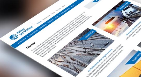 Allianz pro Schiene e.V. erhält neue Website