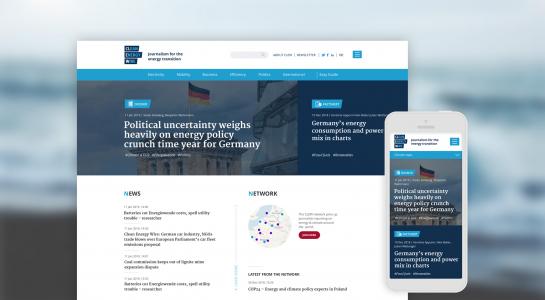 CLEW | Responsive Webdesign, in der Desktop und der Smartphone Ansicht