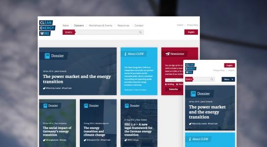 Responsive Webdesign, in der Desktop und der Smartphone Ansicht