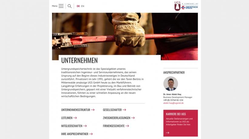 Website für UGS ist online