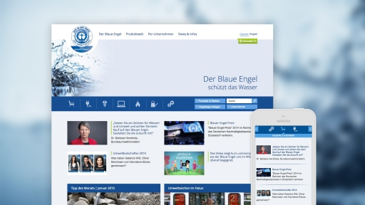 Responsive Webdesign, die Webseite wird auf verschiedenene Endgeräten optimal dargestellt