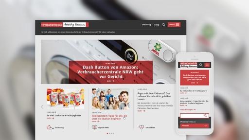 Webdesign für Verbraucherzentralen | Startseite