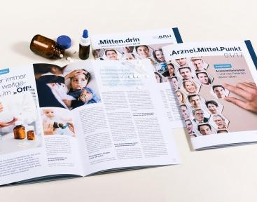 Innenseiten BAH-Magazin und Cover