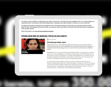 Flexibles Layout auf dem Tablet, dank Responsive Webdesign