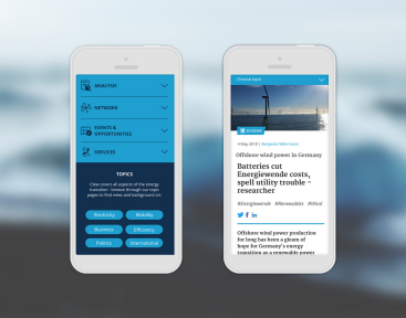 CLEW   Responsive Webdesign mit Smartphone Ansicht