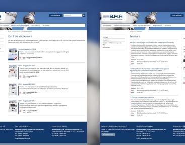 Verschiedene Inhaltstypen im Webdesign