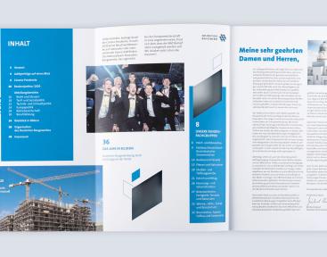 ZDB Geschäftsbericht:Inhaltsverzeichnis