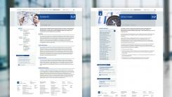 Webdesign bietet viele Formen für visuelle Strukturen